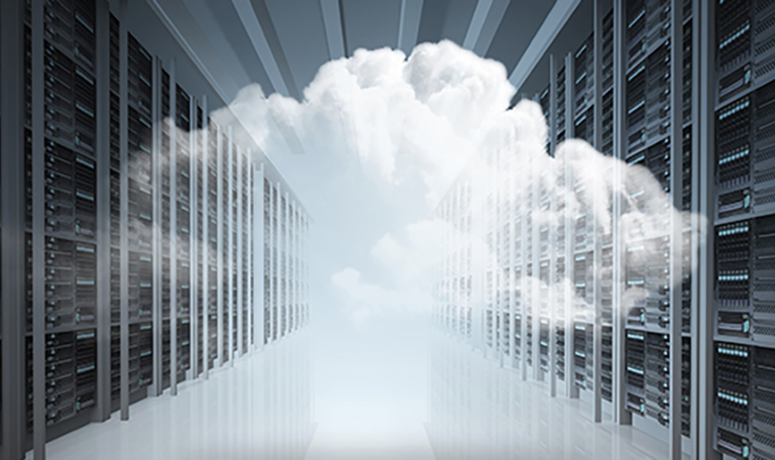 Clouds in a server room