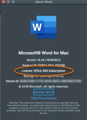 Upgrading Office 2016 to Office 365 (Mac) | IT@Cornell