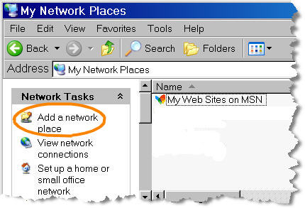 Add a network place