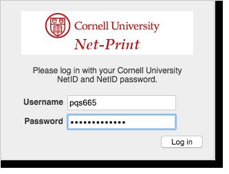 Add Money To A Net Print Cash Account It Cornell
