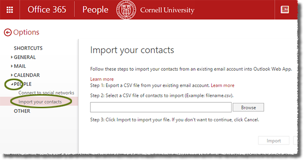 Use Contacts (Outlook on the Web) | IT@Cornell