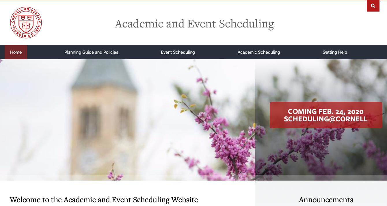 Scheduling@Cornell Homepage