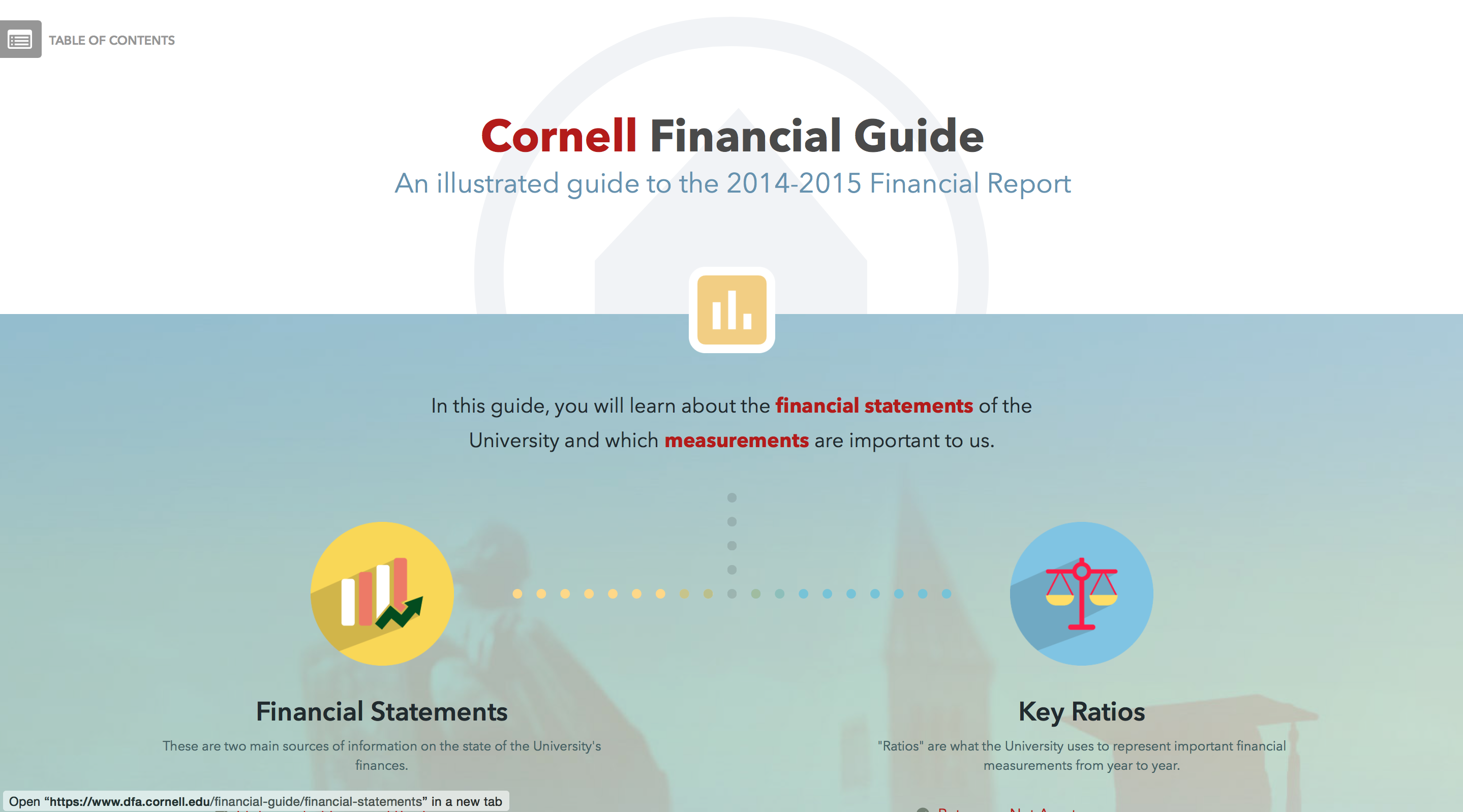 Financial Guide Website Homepage