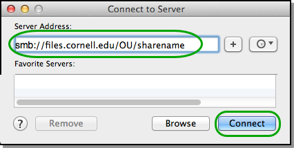 Connect to a Windows File Share with a UNC Path | IT@Cornell