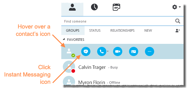 Instant Messaging For Business : Instant messaging with skype for business windows it