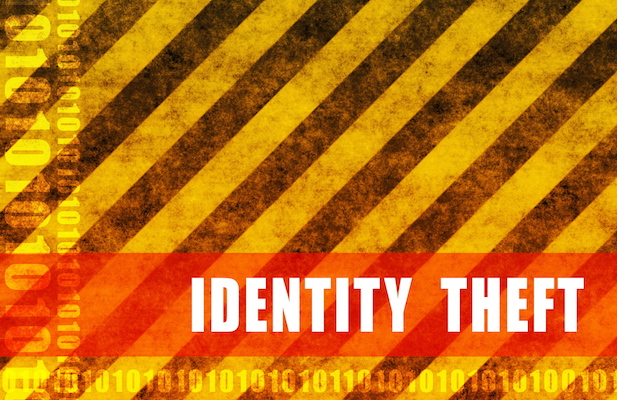 A graphic with identity theft