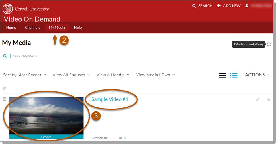 Add Captions in Video on Demand | IT@Cornell