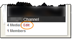Edit Channel